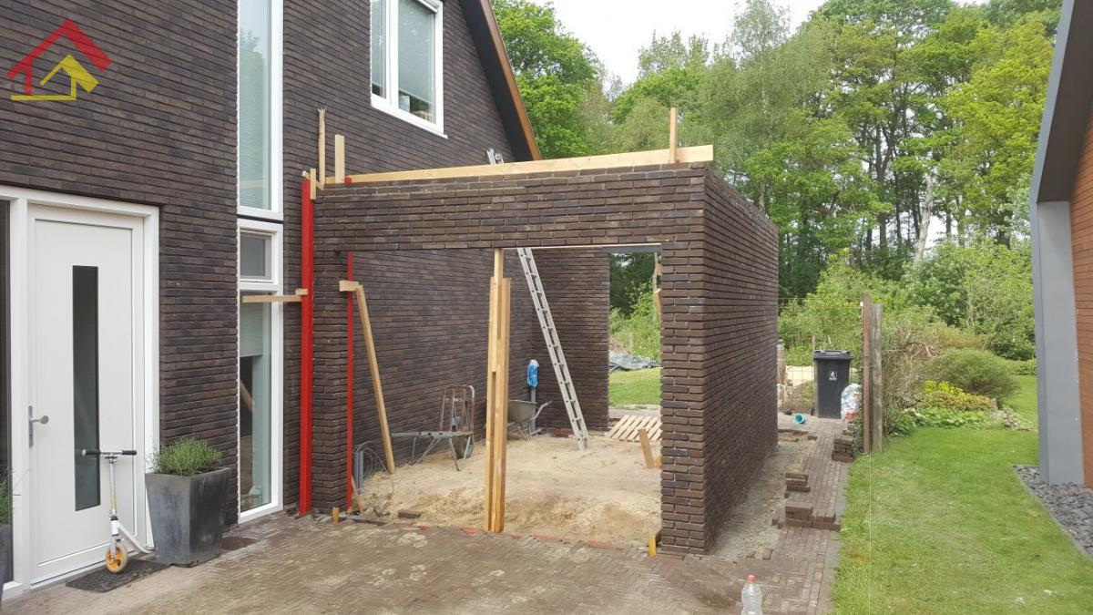 Aanbouw garage Zuidlaren - 1